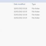 Hidden folder still visible